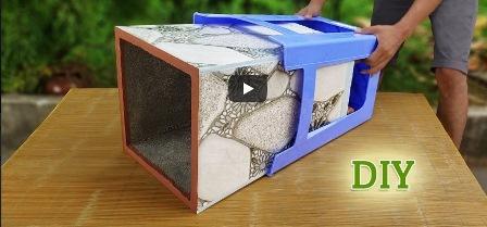 DIY: Φτιάξετε γλάστρες χρησιμοποιώντας κεραμικά πλακάκια και πλαστικά σκαμπό